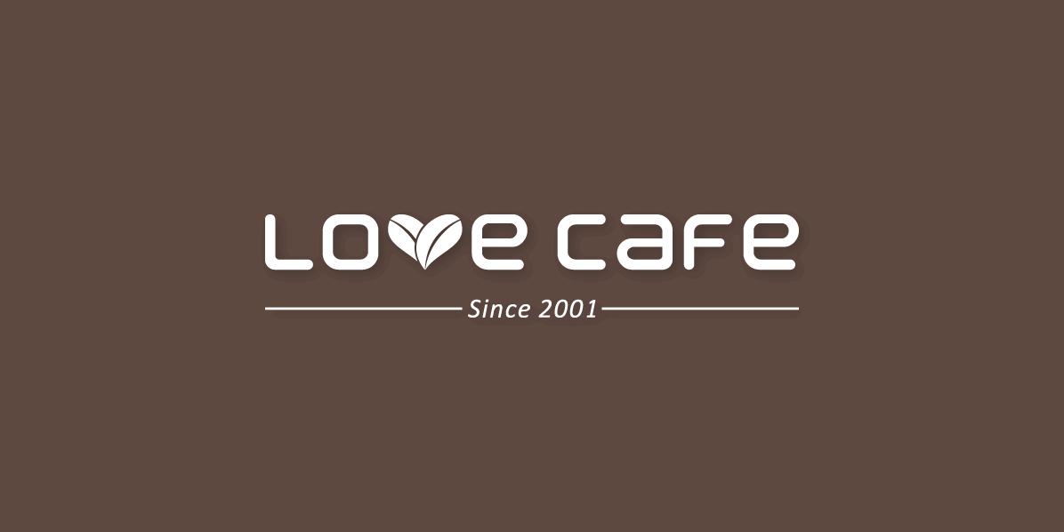 Love Cafe 爱上咖啡店招设计